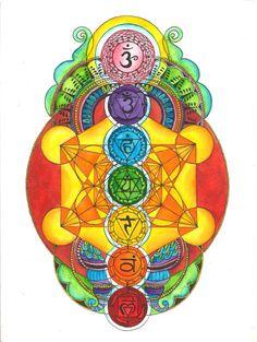 Metatron's Cube with Chakras