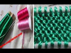 اول درس في تعليم الرندة خاص لمعمرها مشدة الابرة. مع oum yasmin - YouTube Needlework, Weaving, Embroidery, Crochet, Caftans, Beadwork, Design, Lace, Blue Blouse