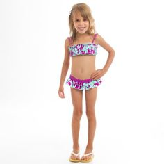 Billabong Ginger Two Piece Swimsuit Freesia 4 -KidsFrom #Billabong Price: $49.50 Availability: Usually ships in 1-2 business daysShips From #and sold by Axl's Closet