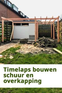 Een timelaps video van het bouwen van de overkapping en schuur. #overkapping #schuur #garage #veranda #timelaps Outdoor Lounge, Outdoor Decor, Outdoor Living Rooms, Outside Living, Small Space Gardening, Garden Spaces, Outdoor Bbq Kitchen, Timber House, Backyard For Kids