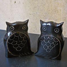 owl salt + pepper shakers - Task New York