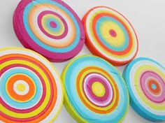 Wood Art Circles Tropical Colors 6 by HeatherMontgomeryArt on Etsy, $79.00