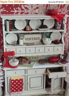 A personal favorite from my Etsy shop https://www.etsy.com/listing/498899753/sale-miniature-dollhouse-white-and-red