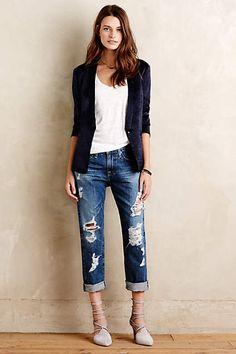 AG Ex-Boyfriend Slim Jeans - anthropologie.com