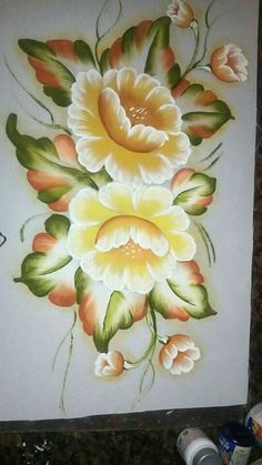 26 Best Ideas for painting fabric machine embroidery One Stroke Painting, Acrylic Painting Canvas, Fabric Painting, Painting On Wood, Acrylic Flowers, Diy Flowers, Easy Paintings, Beautiful Paintings, Fabric Paint Designs