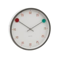 """Karlsson Magic wall #clock, $44    •12""""; """"Steel casing with '3D glasses' style clock hands – numbers appear as hands pass over"""""""