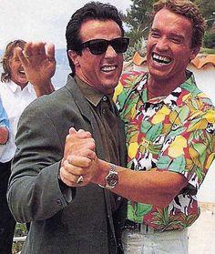 <3 <3 <3 Sylvester Stallone and Arnold Schwarzenegger