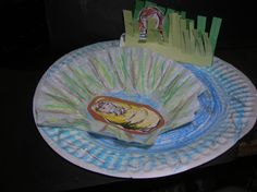 """Preschool Sunday School Project: Miriam Watching Over Baby Moses I looked at a lot of """"Baby Moses"""" art projects preparing for a lesson this Sunday. I particularly liked this one because it shows M…"""