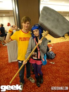 Scott Pilgrim and Ramona Flowers: I'm going to pester Robs until he gives in to this costume for Halloween!
