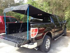 New tailgate party shade canopy tent pickup truck universal no tools easy setup & LSU Tigers NCAA 9u0027 x 9u0027 Economy 2 Logo Pop-Up Canopy Tailgate Tent ...