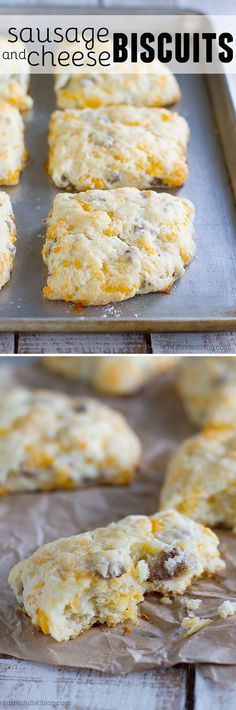 Perfect for breakfast on the run, this Sausage and Cheese Biscuit Recipe has all the goodness of breakfast combined into one jumbo biscuit that is tender and filled with flavor.:
