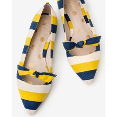 Boden Damen Pumps mit Schleife Yellow Damen - bei MYBESTBRANDS... ($105) ❤ liked on Polyvore featuring shoes, pumps, yellow pumps, yellow shoes, boden shoes and boden