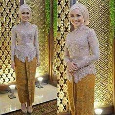 kebaya Muslim batik modern untuk wisuda