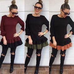 Krásne kvalitné dvojfarebné tuniky IHNEĎ K ODBERU Dostupné veľkosti SM - voľnejší strih  v akciovej cene 2890 objednaj v directena FB alebo priamo na  http://ift.tt/2gRtGQP #dnesnosim#shoppaholic#moda#tvojstyl#fashion
