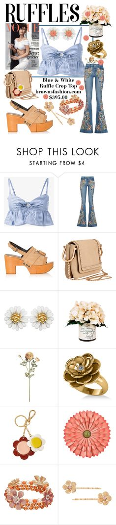 """""""Ruffles"""" by mandimwpink ❤ liked on Polyvore featuring Maryam Nassir Zadeh, Alice + Olivia, Robert Clergerie, H&M, Creative Displays, Allurez, Orla Kiely, LC Lauren Conrad and ruffles"""