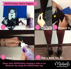 #DIYFriday Party Tights #fashion #MichaelsStores
