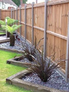 railway sleepers garden borders - Google Search: