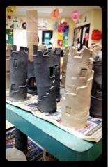 Clay Castles.  I will do this someday.  When I have an art room with a kiln that won't get taken away from me.