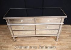 Art Deco Mirrored Commode Chest of Drawers Double Mirror Chest Of Drawers, Art Deco Mirror, Mirrored Furniture, Light And Space, Minimal Design, Contemporary Interior, Art Deco Fashion, Storage, Home Decor