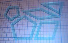 COMBINED: La Passacaglia - Fensterstil 1/4 Zoll Naht (5 Stück) & keine Seam Allowance (5 Stück) - Acryl-Quilt-Vorlagen