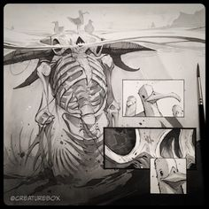 "CreatureBox • Inktober Day 12: ""I once ruled theses seas before..."