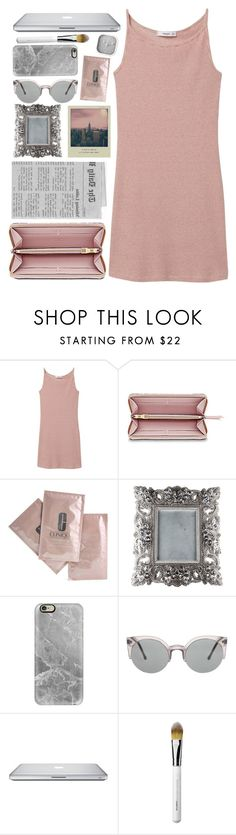 """""""date night"""" by anastazia-jae ❤ liked on Polyvore featuring MANGO, Empreinte, Clinique, Casetify, Obsessive Compulsive Cosmetics and Karlsson"""