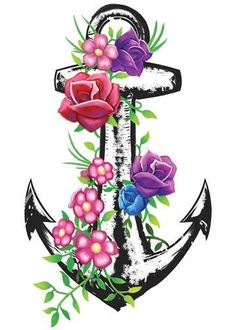 Anchor - Pastel Mix Temporary Tattoo