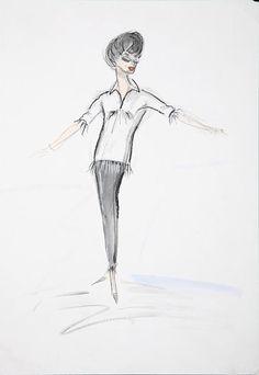 1963 Edith Head sketch for Judy Garland