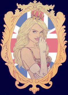 ♡ Who's Watched The Victoria's Secret Fashion Show 2013 Already? ♡ ♚ British Invasion Theme ♚ The Royal Fantasy Bra -Candice Swanepoel ♡ BKM Make-Up & Design - Illustration @Victoria Brown's Secret