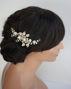 Hair Comb Gold Wedding Hair Accessories Floral Hair Vine Leaves Hair Comb for weddings Elegant Hair Piece for Brides HARLOW VINE Gold Bridal Hair Comb Wedding Hair Accessories by LuluSplendorGold Bridal Hair Comb Wedding Hair Accessories by LuluSplendor Hair Comb Wedding, Wedding Hair Pieces, Bridal Hair, Bridal Comb, Wedding Updo, Wedding Bride, Flower Hair Accessories, Wedding Hair Accessories, Elegant Hairstyles