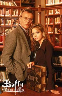 A great poster of Buffy the Vampire Slayer (Sarah Michelle Gellar) and her Watcher Rupert Giles! Perfect for fans of classic TV. Ships fast. 11x17 inches. Need Poster Mounts..?
