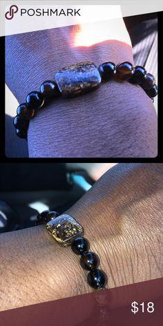 Men's Jasper & CatEye Beautiful Men's Jasper and TigerEye Stretchy Bracelet. Made with beautiful CatEye Beads and Jasper stone Beads. One-size-fits-all Accessories Jewelry