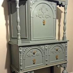 This gorgeous cabinet will stand out in any room, with its beautiful detailing and uniqueness. Great for storage up top, as well as two drawers on... image 1