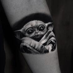#starwars #babyyoda #yoda #tattoos #tattooart Tattoos, Starwars, Animals, Animais, Tatuajes, Animales, Animaux, Tattoo, Star Wars