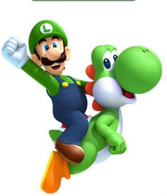 Luigi and Yoshi - super-mario-bros Fan Art