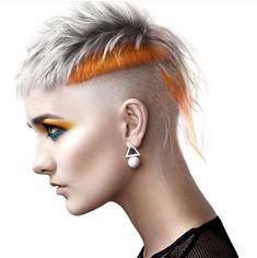 Edgy Short Hair, Edgy Hair, Short Hair Cuts, Short Hair Styles, One Hair, Cut My Hair, Punk Makeup, Hair Makeup, Hair Tattoo Designs