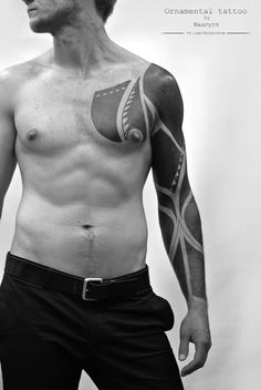 Amazing Blackwork Tattoo Gallery #tattoo #ink #blackwork #mens #for girls…