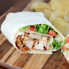 Rotisserie Chicken Club Wrap  [remember this with blue cheese, celery, and buffalo sauce]