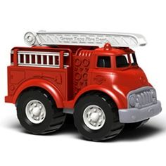 Green Toys Fire Truck.  Put out 3-alarm blazes. Rescue kittens from treetops. Protect the environment from harm. This is just a typical day in the life of the Green Toys Fire Truck, the world's greenest emergency vehicle. Solidly constructed from 100% recycled plastic milk containers.