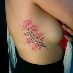 Chronic Ink Tattoo - Toronto Tattoo Freehanded cherry blossoms tattoo done by Miss Lee.