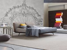 Relief wall effect panoramic wallpaper REINASSANCE Inkiostro Bianco Collection by Inkiostro Bianco design Ink Lab