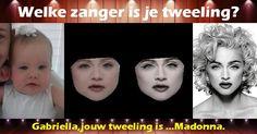 Welke zanger is je tweeling?