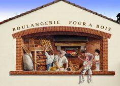 Le Boulanger, Patrick Commecy, Serpaize, France