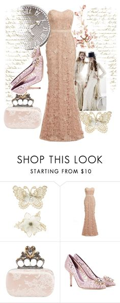 """Lace 2"" by cristinaconst ❤ liked on Polyvore featuring Monsoon, D.anna, Alexander McQueen and Dolce&Gabbana"