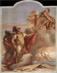 GB Tiepolo: Venus's Farewell to Aeneas, from the Room of the Aeneid in the Palazzina