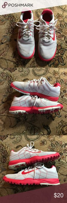 Girls size 3 golf shoes by Nike Great shape Nike girls golf shoes size 3. They don't look brand new by are in great shape and have a lot of life left. See photos. Happy to answer any questions. Nike Shoes Sneakers