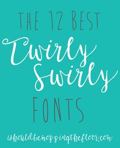 These 12 Free Twirly Fonts will make your heart go pitter patter! They're lovely paired with a variety of printed fonts. Swirly Fonts, Fancy Fonts, Nice Fonts, Awesome Fonts, Silhouette Fonts, Silhouette Cameo Projects, School Fonts, Web Design, Type Design
