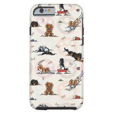 #Animals                                        Puppy Playtime In For a Treat Tough iPhone 6 Case                   Whimsical pattern of cute ckcs spaniels playing among colored puppy paw prints and little dog bones. Great gift idea for animal loving friends, vets, groomers, breeders, pet-sitters, or show handlers.