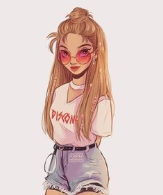 Character Design Idea~ By Itslopez Girly Drawings, Cartoon Drawings, Cartoon Illustrations, Cartoon Girl Drawing, Cute Drawings Of Girls, Pretty Drawings, Girl Cartoon, Cartoon Art, Female Cartoon
