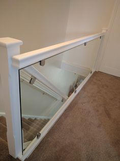 Our gallery of Glass Balustrades White Staircase, House Staircase, Staircase Remodel, Staircase Railings, Banisters, Staircases, Stairs With Glass Panels, Glass Stairs Design, Railing Design